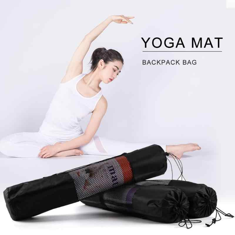 Support de tapis de Yoga pratique imperméable à l'eau Blackyoga sangle simple épaule maille cordon Yoga sac étui réglable Sport à