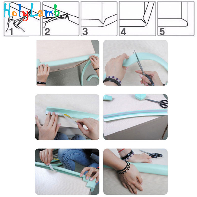 2M Length Table Guard Strip Children Protection Baby Safety Products Glass Edge Furniture Corner Security Securite Enfant Castle in Cabinet Locks Straps from Mother Kids