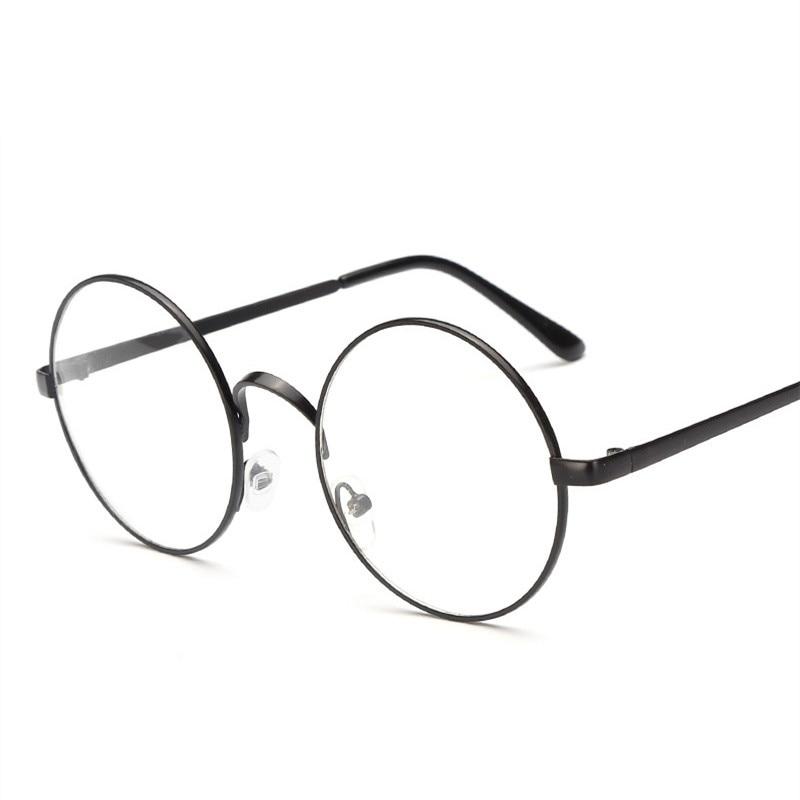 Round Glasses Frames Metal Frames For Glasses Spectacle Clear Lens Optical FemaleTransparent