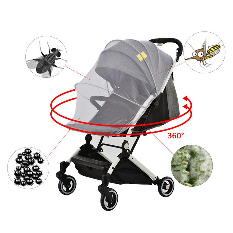 chefensty Baby Stroller Crib Netting Pushchair Cart Mosquito Insect Net Safe Protect Mesh