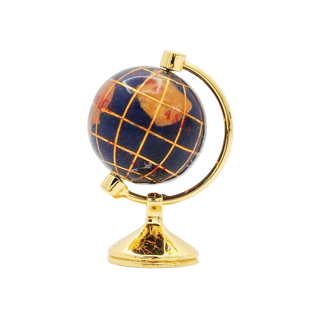 Odoria 1:12 Dollhouse Miniature Rotating Desktop World Globe with Golden Metal Stand Furniture Accessory Toy