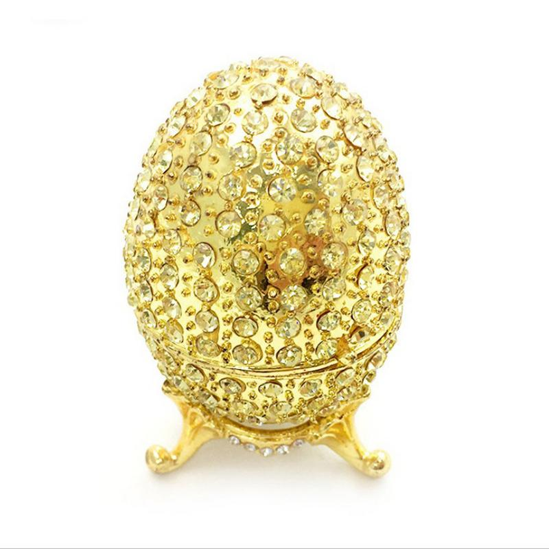Detail Feedback Questions about Handmade Faberge style Easter Eggs Gold Metal  Crafts Box Trinket Box Home Decoration Ornaments Easter Christmas Birthday  ... 00bf0b62210d
