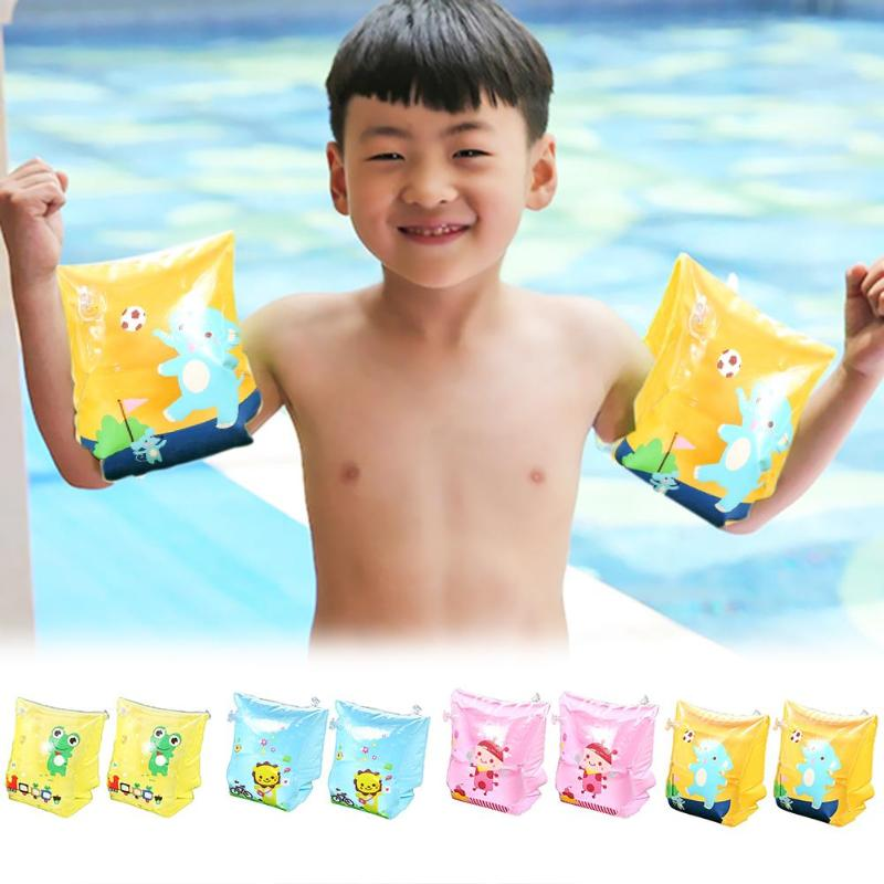 New Type Summer Arm Circle Cute Cartoon Arm Swimming Ring Children Inflatable Swim Floats Water Play Toys Outdoor Fun For Kids