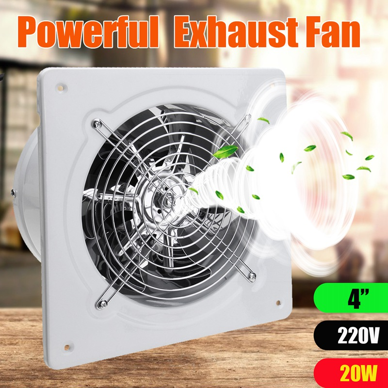 4 Inch 20w 220v Ventilator Extractor Exhaust Fans High Speed Boost Exhaust Fan Toilet Kitchen Bathroom Hanging Wall Window Glass4 Inch 20w 220v Ventilator Extractor Exhaust Fans High Speed Boost Exhaust Fan Toilet Kitchen Bathroom Hanging Wall Window Glass