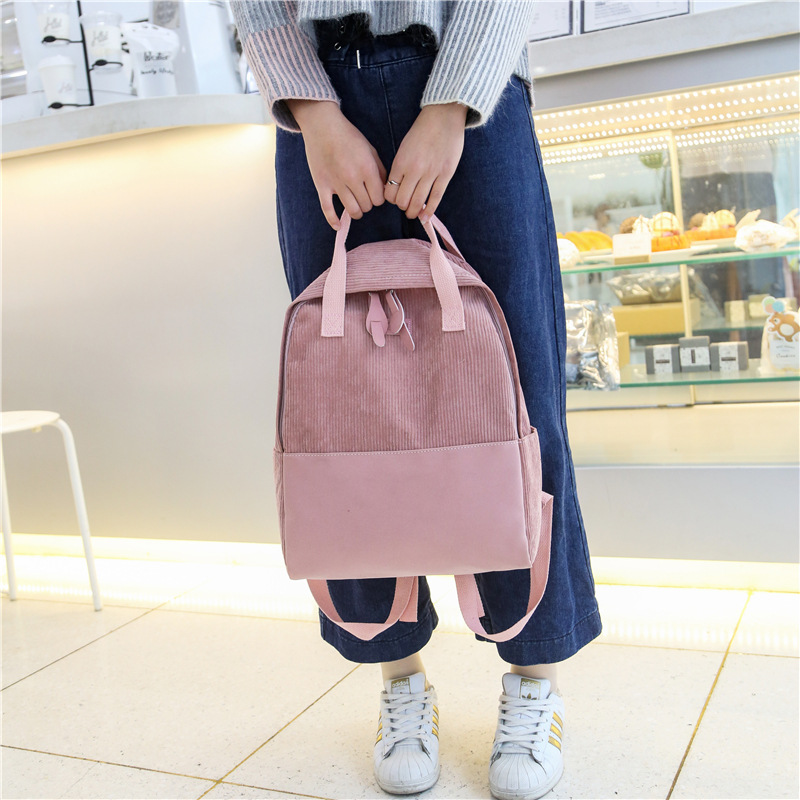 Leisure Shoulders Backpack Women Female Korean Style Fashion Students Bag Campus Outdoor Travel Bag in Backpacks from Luggage Bags