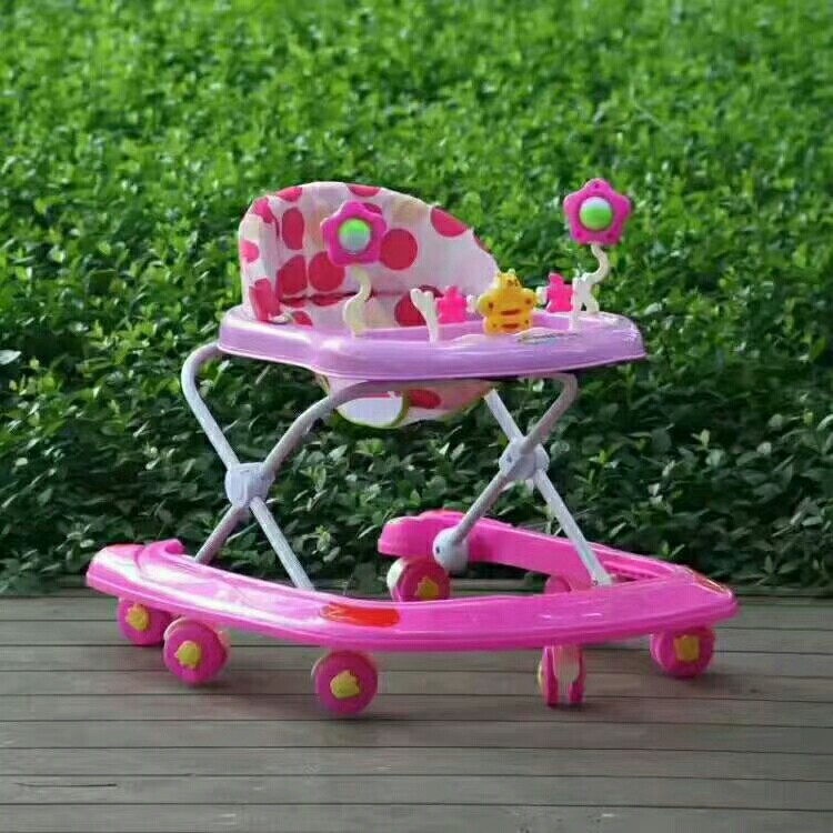 U Shape Baby Walker Car with 8 Wheels Cartoon Toy Dinner Plate for Baby Boys Girls Toddler Walking Assistant Wheelchair 6M-3Y