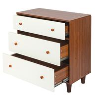 Three layer Drawer Bedside Cabinet White Night Table Walnut Clothes Storage Shelves Home Clothes Socks Organizer