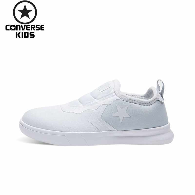 e8824bb0848e96 CONVERSE Kid s Shoes New Pattern Boys And Girls Children One Pedal White  Casual Sneakers 660334C-