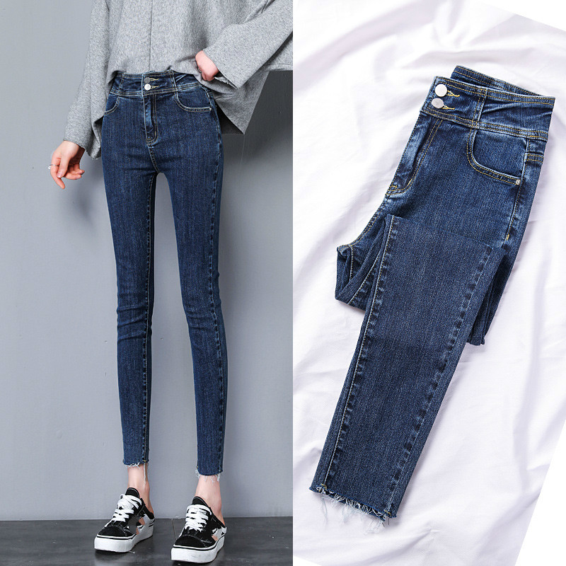 New Arrivals Spring Summer Fashion Women Denim Skinny Pants High Waist Stretch Jeans Slim Pencil Jeans Female Casual Jeans in Jeans from Women 39 s Clothing