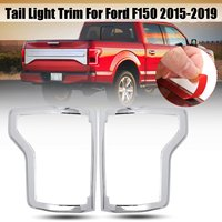 Pair ABS Chrome Rear Tail Light Lamp Frame Cover Trims For Ford F150 2015 2016 2017 2018 2019 Car Exterior Accessories