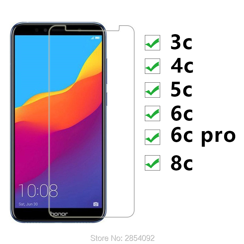 2pcs Tempered <font><b>Glass</b></font> For <font><b>Huawei</b></font> <font><b>Honor</b></font> 3c 4c <font><b>5c</b></font> 6c Pro 8c Protective Glas Screen Protector On 6cpro 3 4 5 6 8 C C6 C5 Guard Saver image