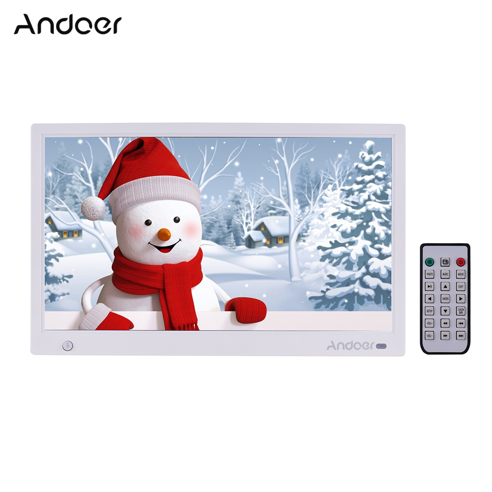 Andoer 15 6 1920 1080 IPS LED Digital Photo Frame Electronic Picture Album MP3 MP4 Clock
