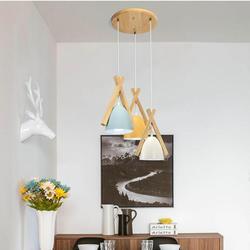 Współczesna lampa wisząca z drewna kinkiet do badania jadalnia bar E27 lampa wisząca nowoczesny żyrandol do salonu światło ślubne Luminaria