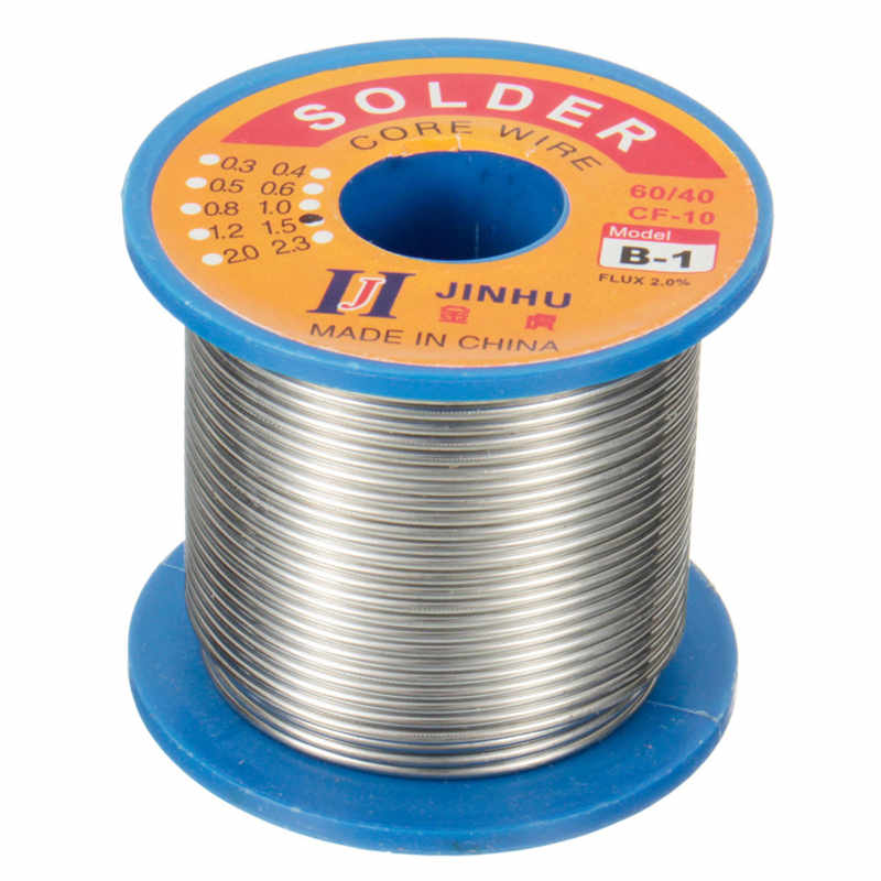50g-500g 60/40 Tin Lead Solder Wire Rosin Core Soldering 2% Flux Reel 0.5mm-2mm