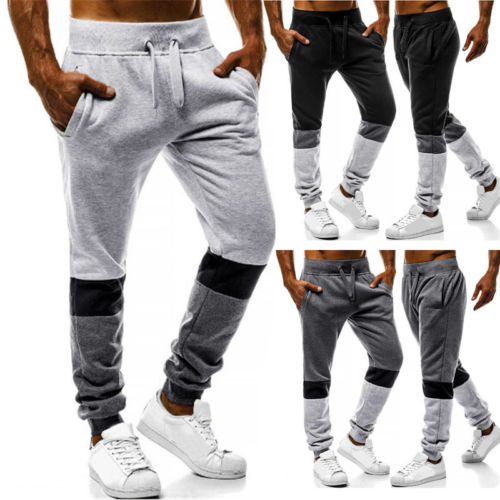 2019 Men's Sport Casual Sweat Pants Jogging Jogger Trousers Tracksuit Bottoms