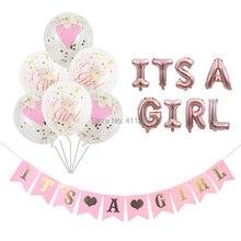 Zijn Een Meisje Ballon Zijn Een Jongen Ballon Jongen Meisje Douche Banners Vlaggen Roze Blauw Confetti Baby Shower Ballonnen Party decoraties