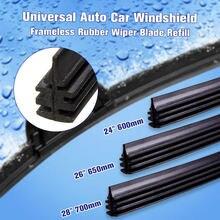 Lâminas de limpador frameless de borracha do limpador do pára-brisas do universal 28 700mm tiras para o caminhão da van do ônibus do carro borracha macia