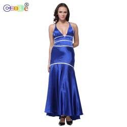 Длинное Элегантное платье подружки невесты, украшенное бусинами, ТРАПЕЦИЕВИДНОЕ ПЛАТЬЕ С глубоким v-образным вырезом, вечернее платье