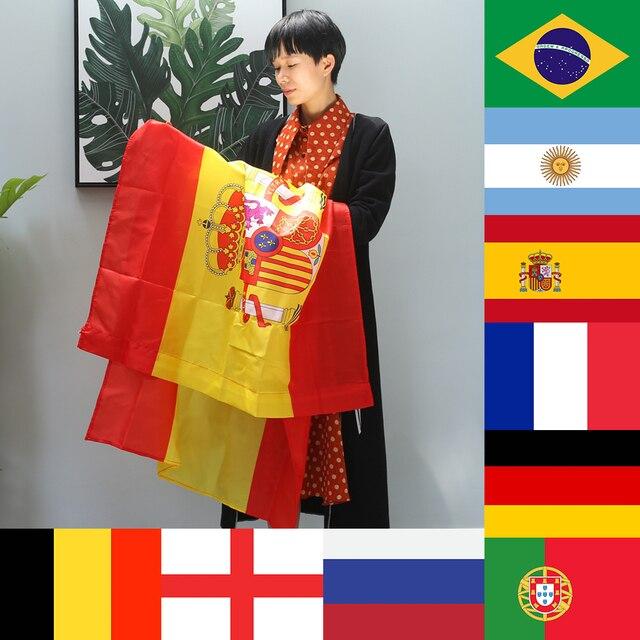 f2d92dc2c356a Decoração Bandeira Do Mundo de 2018 Da Equipe Nacional Brasil Argentina  Alemanha Portugal Inglaterra 96