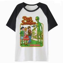 dea5e87ecaf1b Сатана чужой Забавный футболка для мужчин аниме футболка хип-хоп футболка  для любителей фильмов ужасов