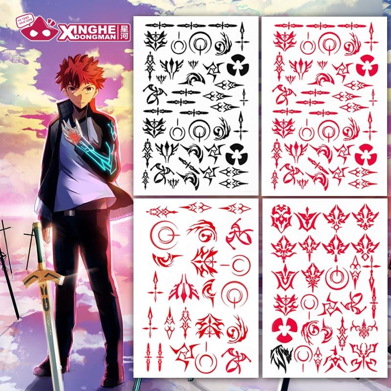 Milky Way Anime Fate Grand Order Zero Waver Velvet Tattoo Sticker Kayneth Archibald Commend Spell Emiya Kiritsugu Cosplay Prop