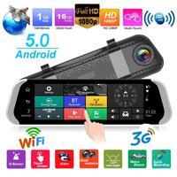 VODOOL 9.35 inch Android 5.0 3G 1080p Car DVR Dash Camera Rearview Mirror GPS WiFi Dual Lens Car Dash Camera Video Recorder