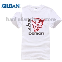 GILDAN Sleeve T Shirt Summer Men Tee Tops Clothing Homme T-shirt Funny Dodge Demon Logo Mens Black Tees