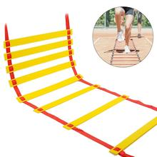 Wear-resistant Agility Ladder Agility Training Ladder Speed Coordination Flat Rung With Carrying Bag Suitable For Children new 5m upgrade escape ladder wear resistant reinforced anti skid soft ladder fire inspection rope ladder 18 20mm 1 2nd floor