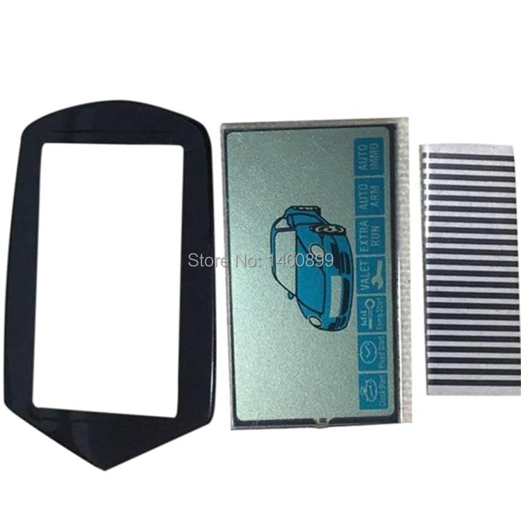 Wholesale 2pcs/lot B9 LCD Display + B9 Keychain Glass Case For Russian 2-way Starline B9 Lcd Remote Control Key Fob Keychain