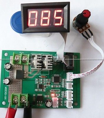 500W 20A 12-24V DC Brush Motor PWM Speed Controller With Led Digital Display Governor Driver