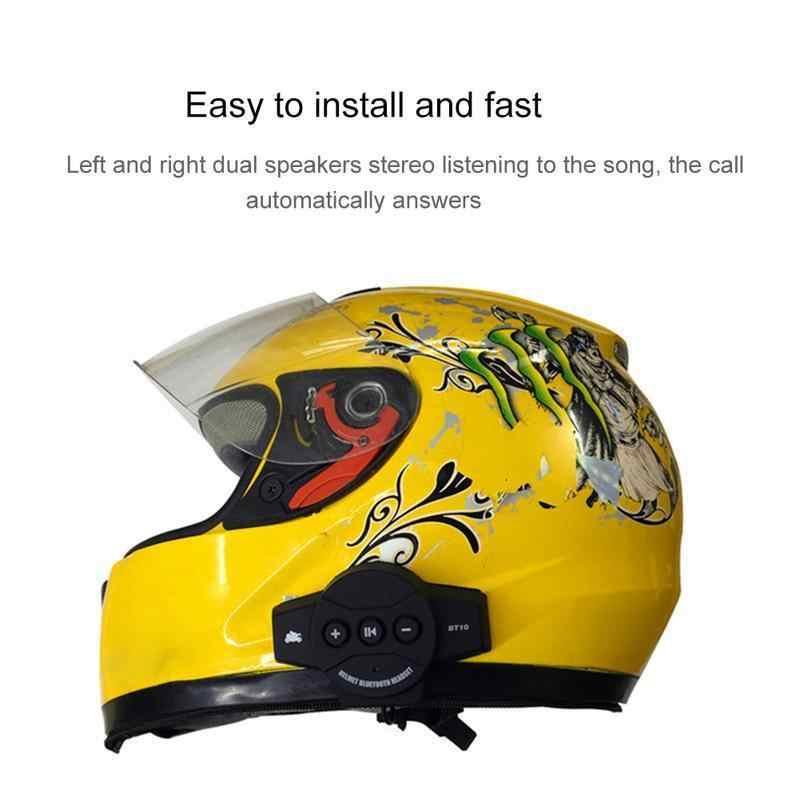Мотор беспроводной Bluetooth гарнитура мотоциклетный шлем наушники громкоговоритель домофона громкой связи Музыкальный Микрофон телефон MP3