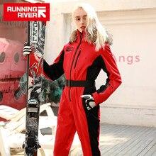 Chaqueta impermeable de marca RUNNING RIVER para mujer, traje de esquí, chaqueta de Snowboard de esquí, conjunto de Snowboard femenino, ropa # N9470
