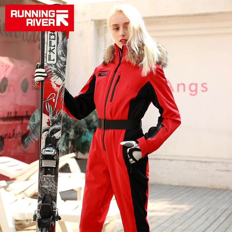 FIUME che scorre di Marca Giacca Impermeabile Per le donne Tuta da sci delle donne di sci Giacca Da Snowboard Femminile Snowboard Set Abbigliamento # N9470