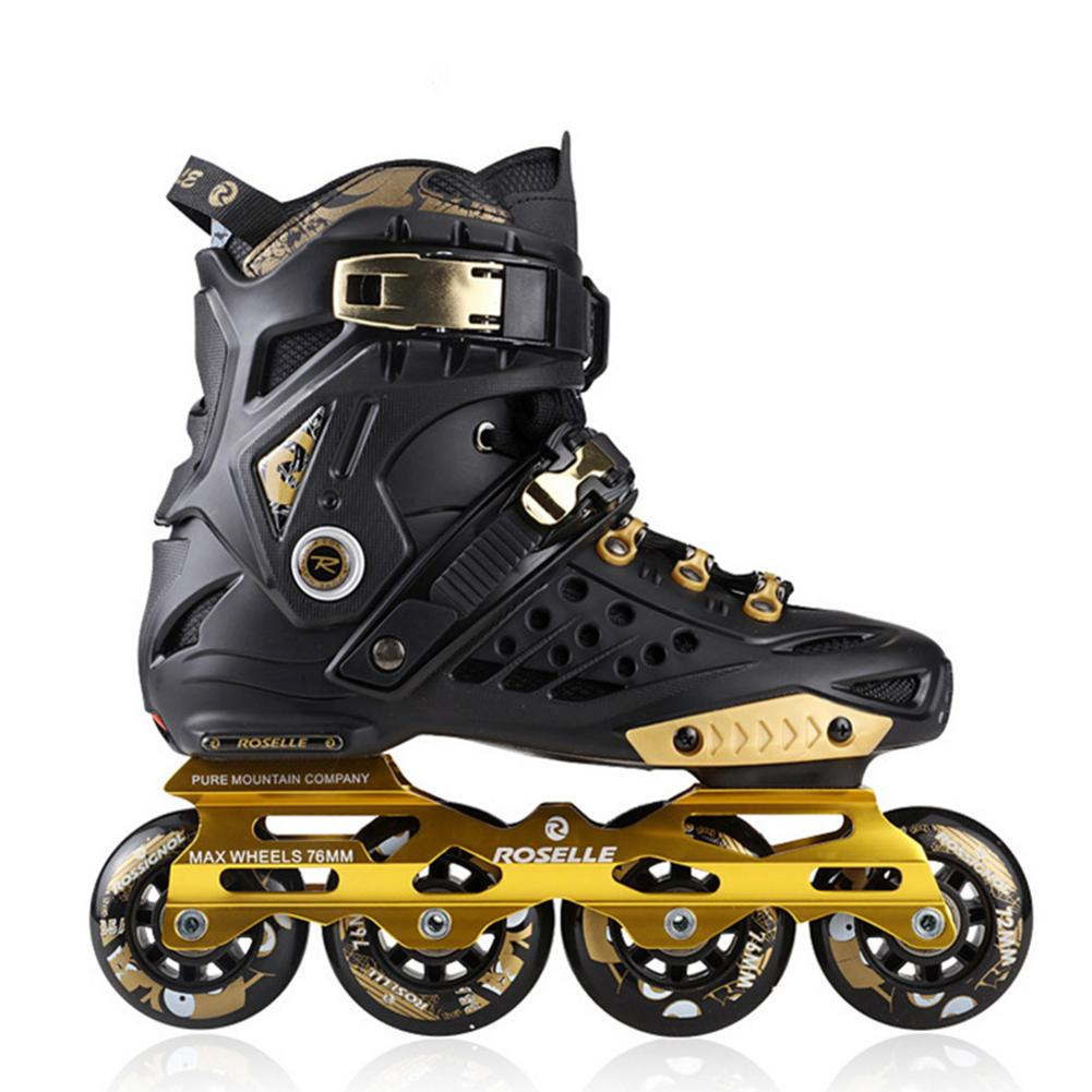 Inline Skates Adult Beginners Freestyle Sports Skates Thickening Shock Absorbers Flashing Roller Straight Row Professional