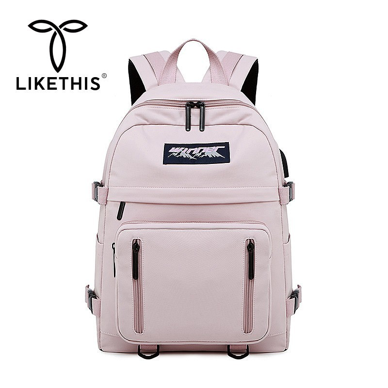 LIKETHIS Style Backpack Female College School Backpack For Teenage Girls Soft Fabric Backpack Women 2019 Large Capacity Travel