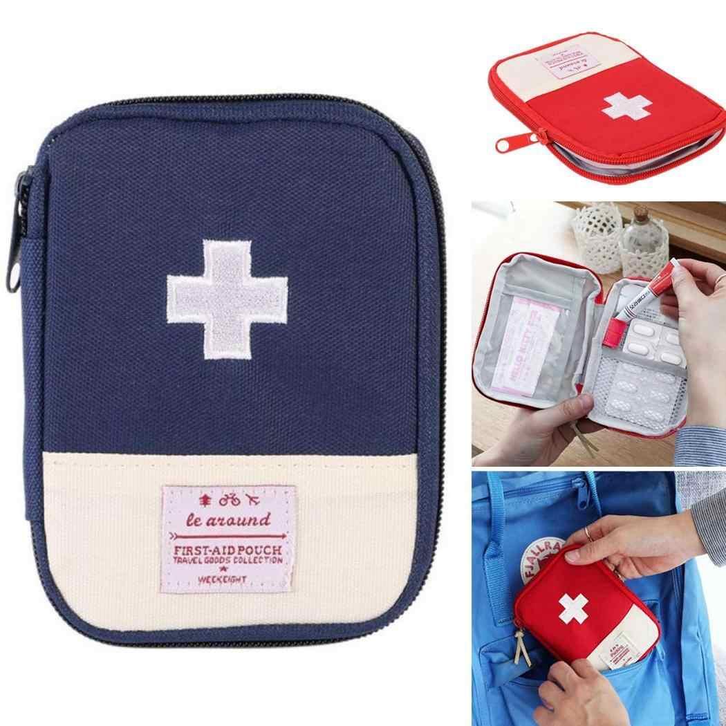 Аварийная Аптечка для первой помощи, для путешествий, для улицы и т. д. 2 внутренних отсека, набор для путешествий, мини-оксфордская ткань Trousse