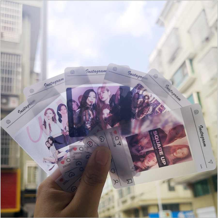 Kpop Blackpink PVC Clear Photo Card Rose Jennie HD