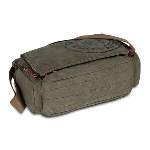 Image 4 - Винтажные мужские сумки через плечо, Холщовая Сумка на плечо, модная мужская деловая сумка через плечо для мужчин, брендовая мужская дорожная сумка с принтом