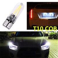 white car 2Pcs 12V-24V T10 194 168 COB LED Car Glass License Plate Light Bulb White (3)