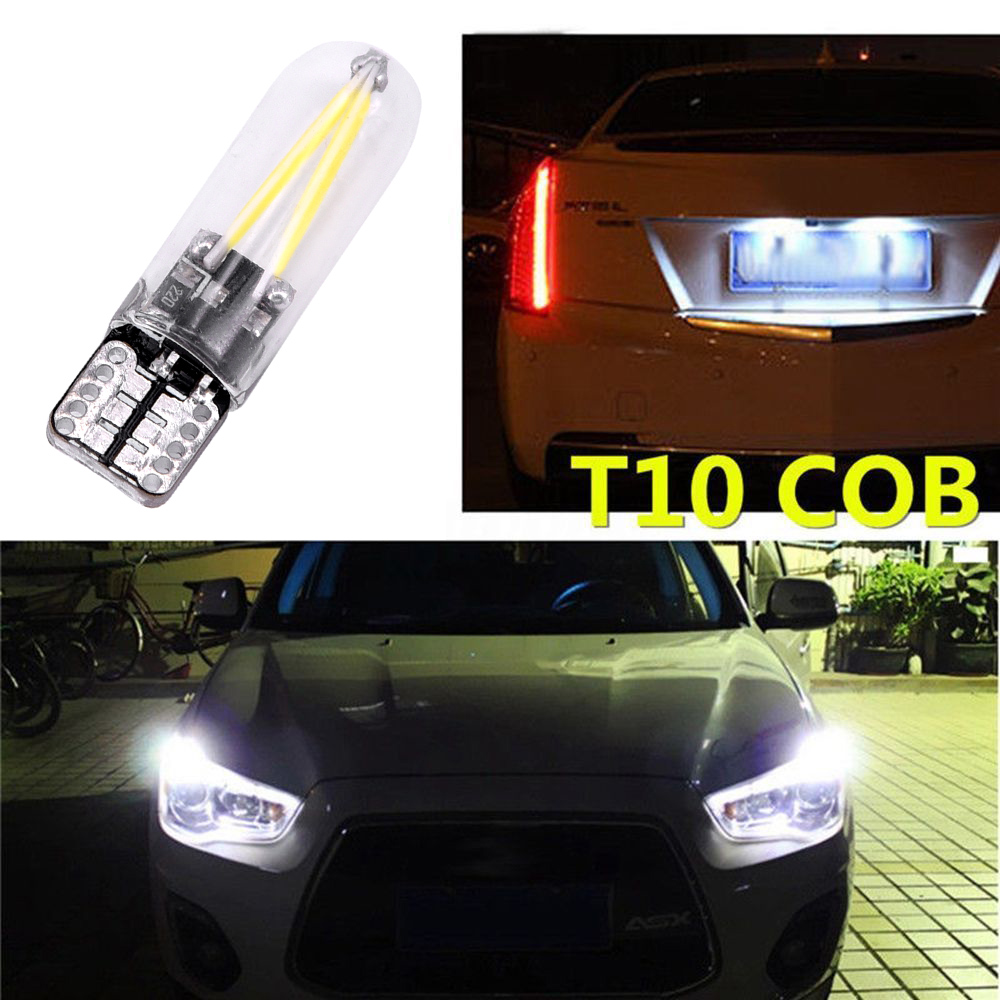 Image 3 - 2Pcs Car License Plate Lights 95x20x8mm High Quality 6500K 12V 24V T10 194 168 COB LED Car Glass License Plate Light Bulb White-in Truck Light System from Automobiles & Motorcycles