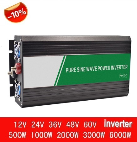 Doppel Digital Display <font><b>wechselrichter</b></font> 1500W ren sinus inverter 1500W reine sinus welle inverter peak power 3000W 12V oder <font><b>24V</b></font> zu <font><b>220V</b></font> image