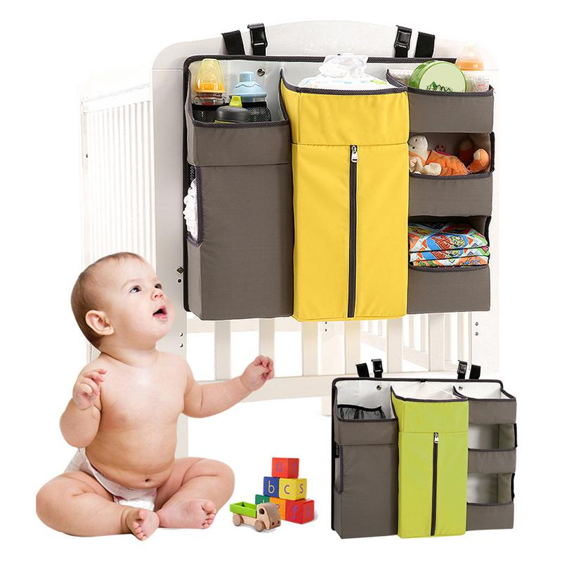 Baby Crib Childrens Bed Hanging Bag Portable Waterproof Diapers Bedside Organizer Bed Bumper Cradle Bag Bedding AccessoriesBaby Crib Childrens Bed Hanging Bag Portable Waterproof Diapers Bedside Organizer Bed Bumper Cradle Bag Bedding Accessories