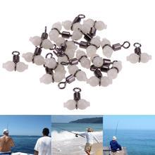 20 шт./лот светящиеся Вертлюги для рыбалки вертлюги морские снасти прочные крепежные кольца Rolling поворотные стальные рыболовный крючок