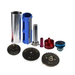 Kit de actualización de accesorios para caza de Paintball, juego de engranajes de alta velocidad de torsión, pistón de cilindro sólido portado, cabezal de seta silencioso M4