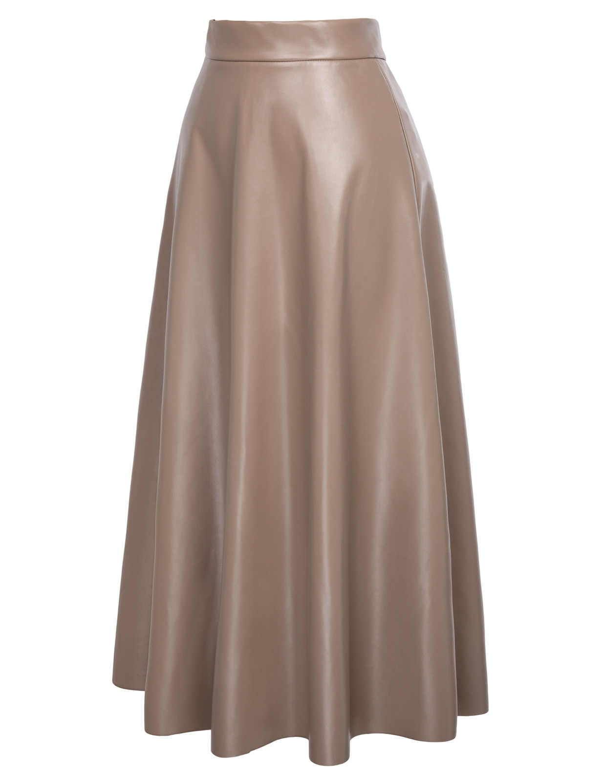 53dd565b19 Fashion Womens PU Leather High Waist Pleated Swing Maxi Flared A-Line Long  Skirt