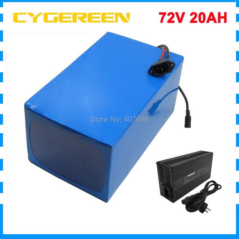 2500 W 72 V 20AH Électrique vélo batterie 72 V 20AH Au Lithium ion batterie 72 V batterie 3.7 V 5000 MAH 26650 Cellules 40A BMS Livraison taxes