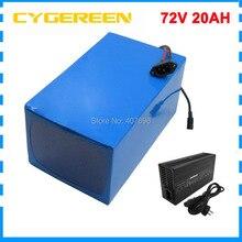 2500 W 72 V 20AH bicicleta eléctrica de la batería 72 V 20AH batería de iones de litio de V 72 V Paquete de batería 3,7 V 5000 MAH 26650 celular 40A BMS libre de impuestos