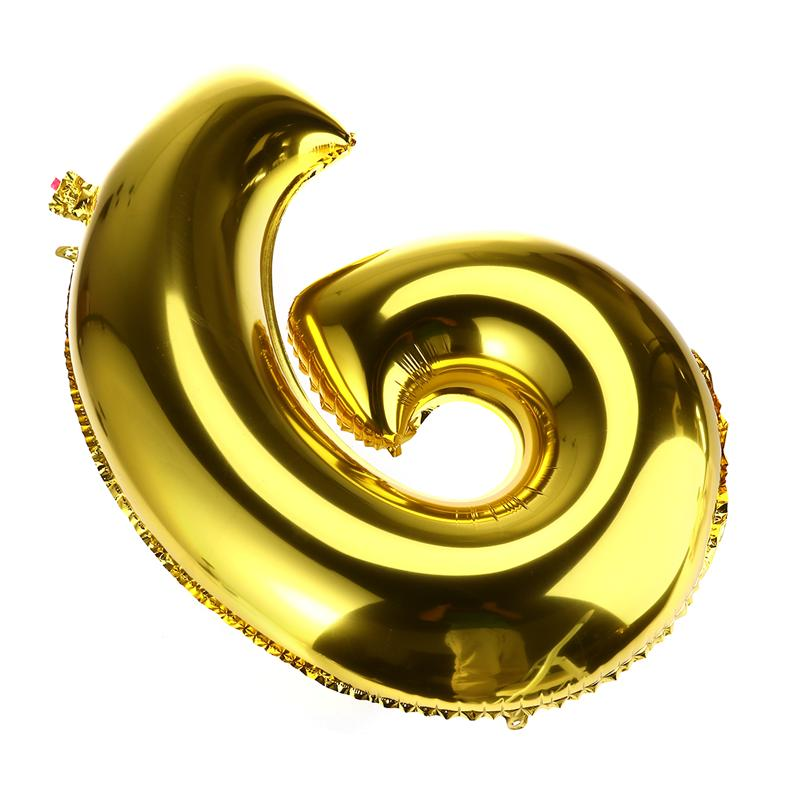 32 inch Thickened Helium Foil Balloons Birthday Number Balloons 9 for Wedding Anniversary Decoration (Gold) - 2