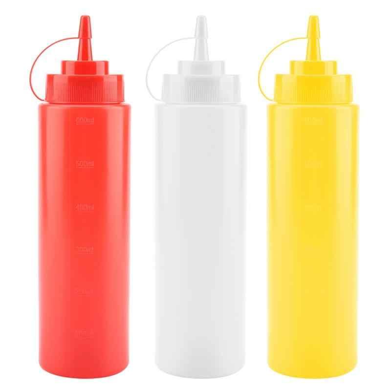 720ml 10pcs / Set Plastic Condiment Dispenser for Sauce Oil Cream Vineger