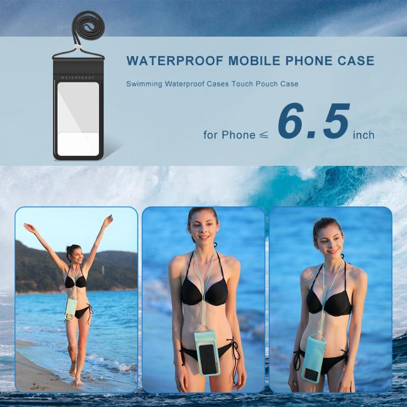 Outdoor Riding Swimming Beach Dry Bag Waterproof Mobile Phone Case Pouch Cover Touch Diving Case For Phone 5.5 Inch